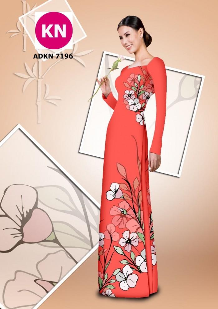 Vải bộ áo dài in đẹp KN7196 (vải áo và vải quần )13