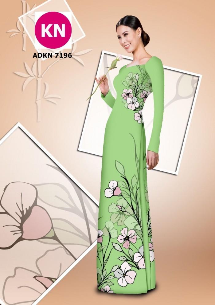Vải bộ áo dài in đẹp KN7196 (vải áo và vải quần )14
