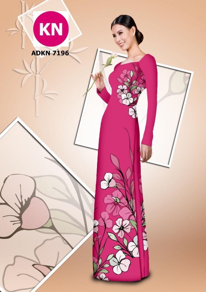 Vải bộ áo dài in đẹp KN7196 (vải áo và vải quần )15