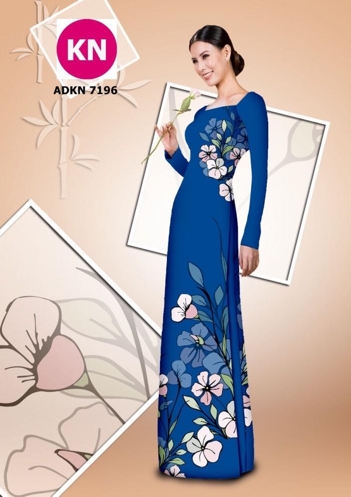 Vải bộ áo dài in đẹp KN7196 (vải áo và vải quần )16