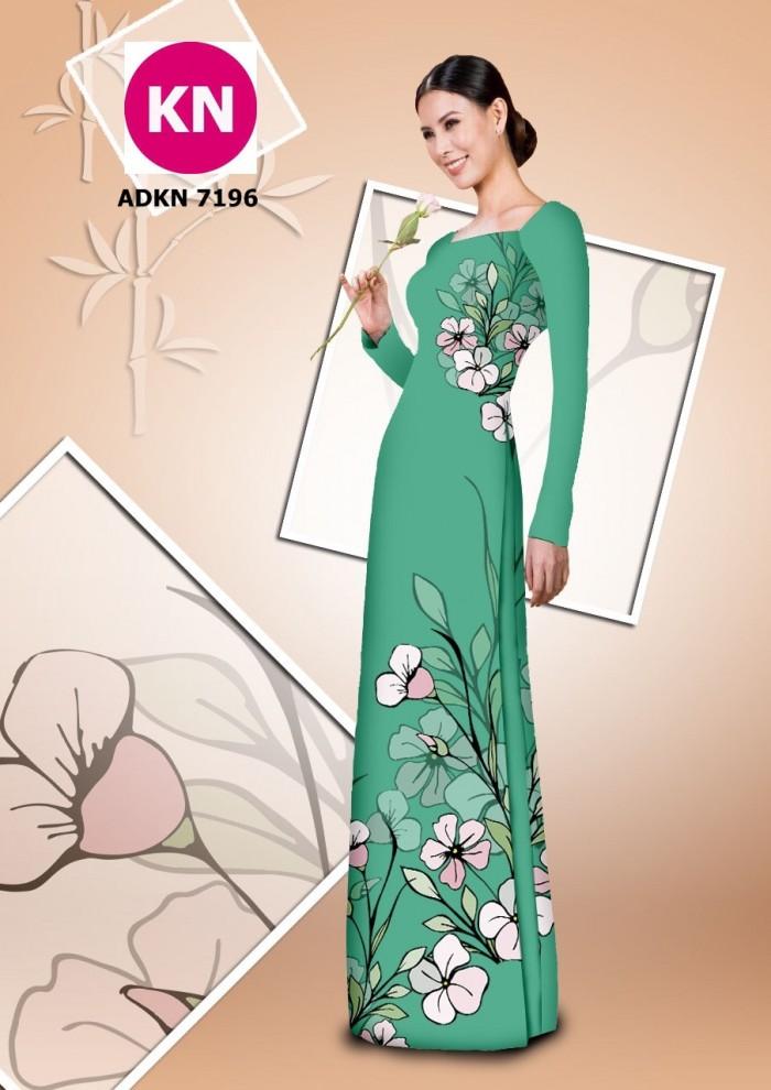 Vải bộ áo dài in đẹp KN7196 (vải áo và vải quần )17