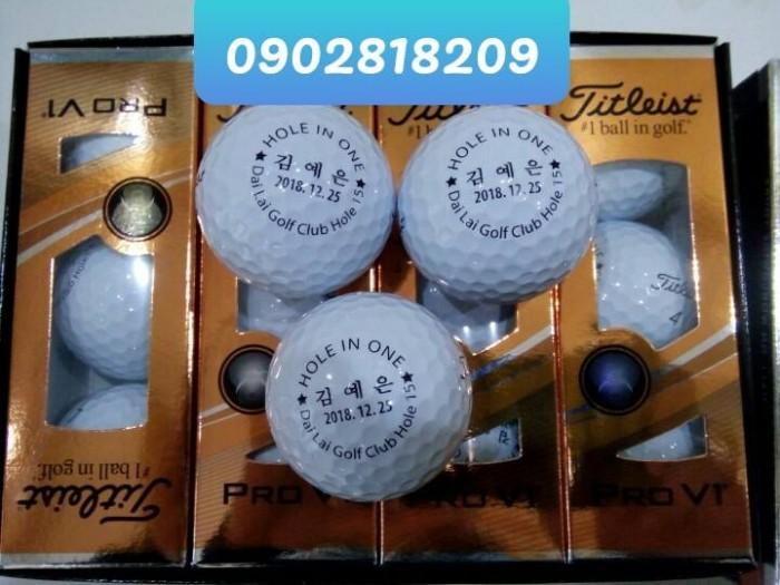 Bóng golf titleist pro v1 in logo làm quà tặng5