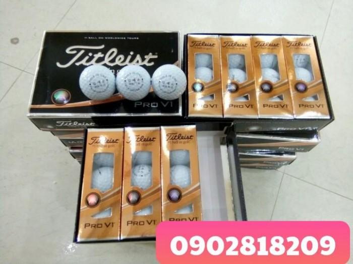 Bóng golf titleist pro v1 in logo làm quà tặng6