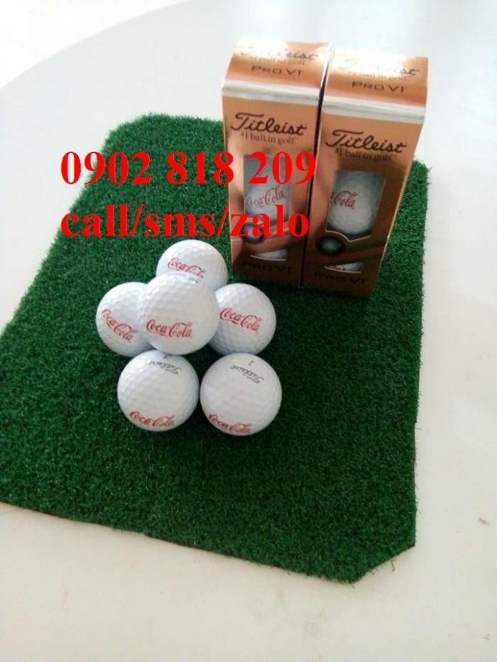 Bóng golf titleist pro v1 in logo làm quà tặng1