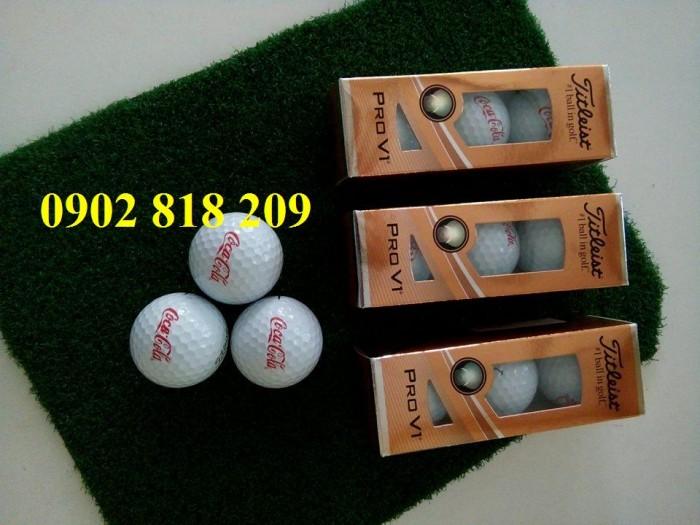 Bóng golf titleist pro v1 in logo làm quà tặng3