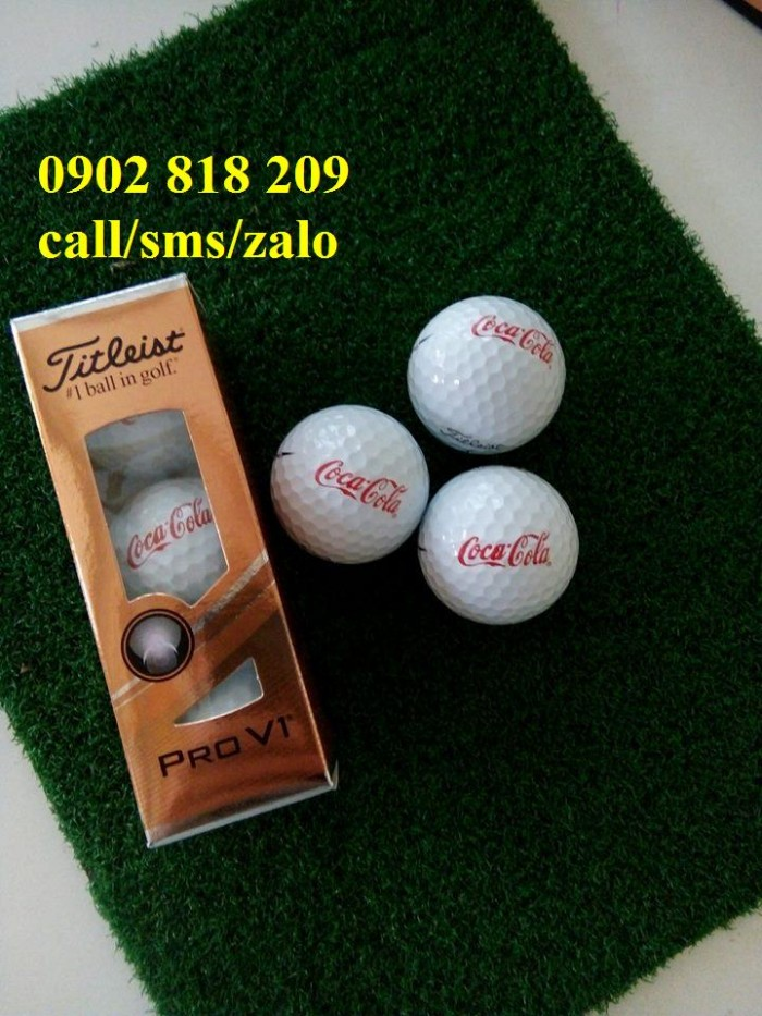 Bóng golf titleist pro v1 in logo làm quà tặng0