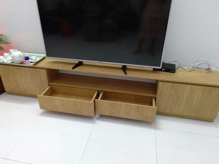 Tủ kệ tivi gỗ  xoan đào giá rẻ0