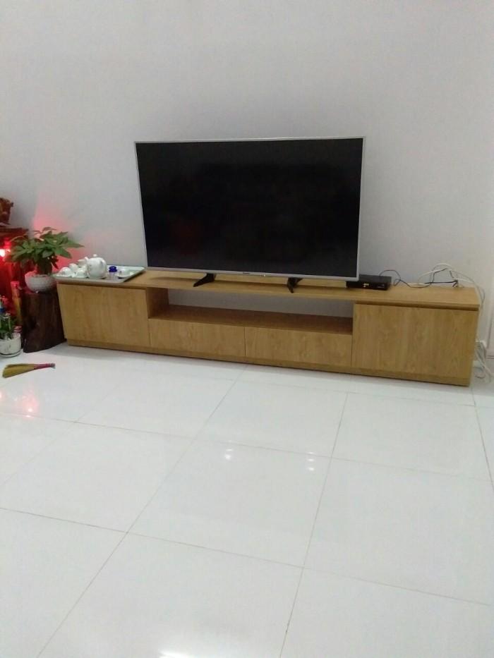 Tủ kệ tivi gỗ  xoan đào giá rẻ1