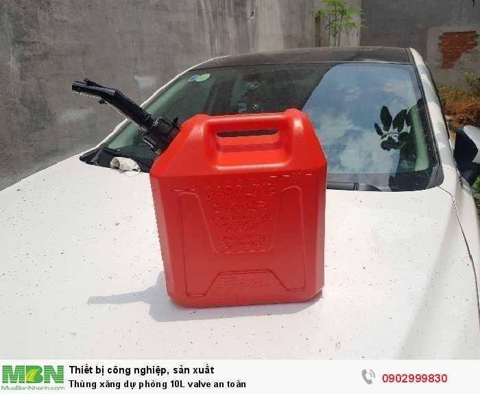Thùng xăng dự phòng 10L valve an toàn2