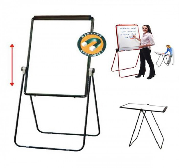 Bảng Flipchart silicon FB-66 (kích thước 70x100cm) sử dụng với Giấy A1 Kích thước mặt Bảng: 70x100cm Mặt Bảng có thể xoay lật 360 độ Điều chỉnh độ cao lên xuống tùy ý3