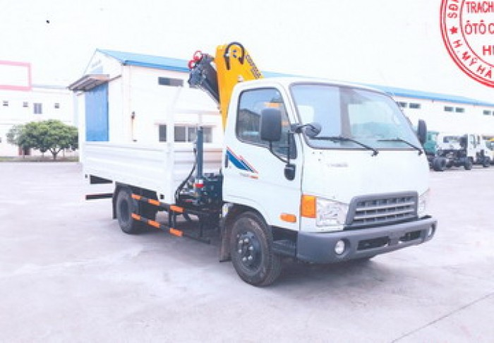 Xe tải 5 tấn Thaco Hyundai HD500 gắn cẩu gấp 3,5 tấn COPMA mode 78.2.3|Hỗ trợ khách hàng mua xe trả góp