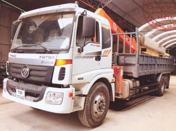 Thaco Auman C1500/P255 gắn cẩu 5 tấn SANGDO model SC514ML| Hỗ trợ trả góp ngân hàng, giá thanh lý 1