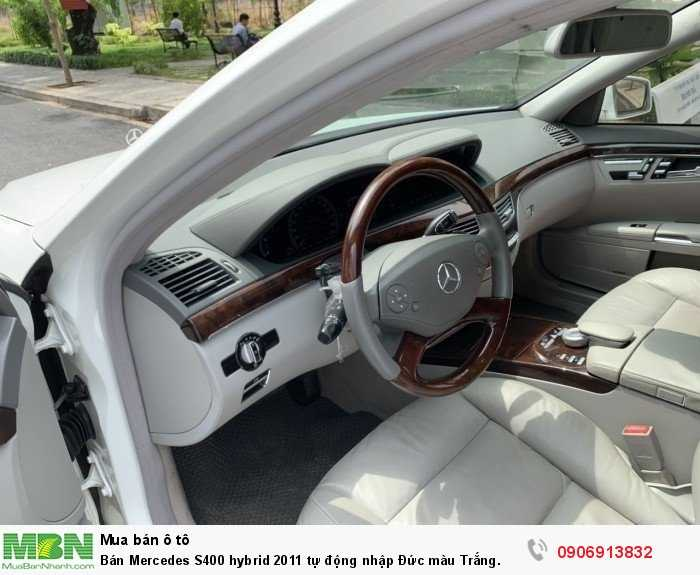 Bán Mercedes S400 hybrid 2011 tự động nhập Đức màu Trắng. 9