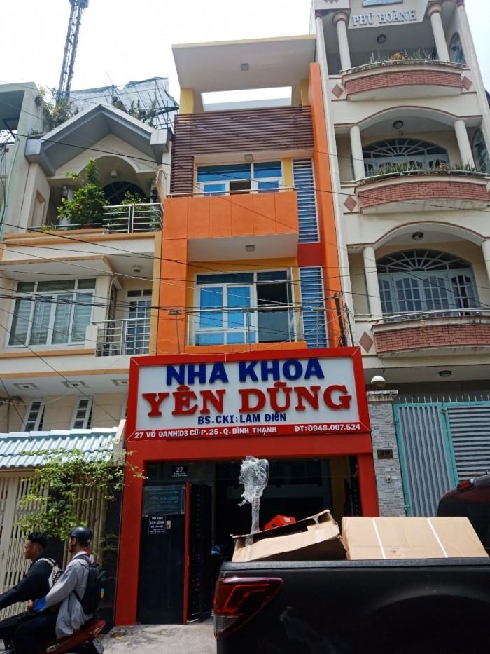 Nhà đẹp giá siêu rẻ hẻm xe tải Nơ Trang Long 4 tầng