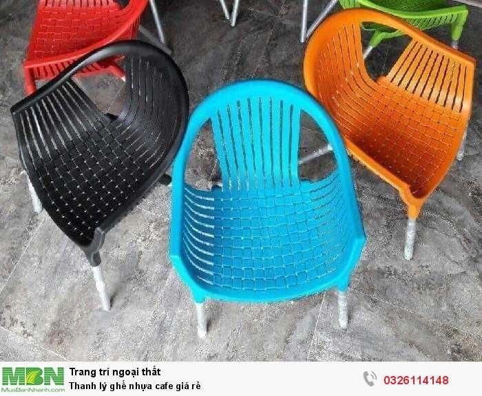 Thanh lý ghế nhựa cafe giá rẻ0