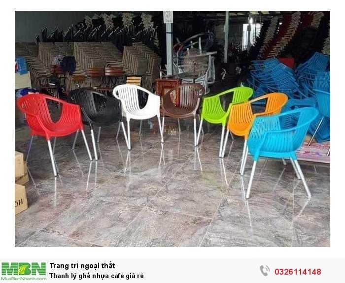 Thanh lý ghế nhựa cafe giá rẻ1