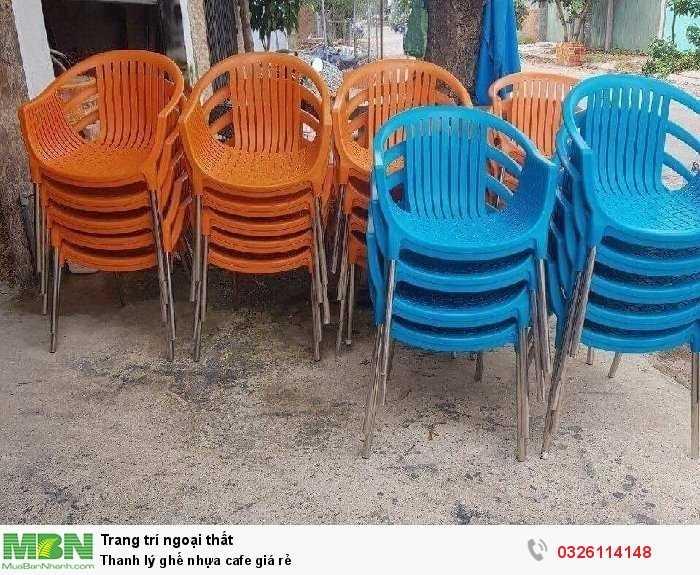 Thanh lý ghế nhựa cafe giá rẻ2