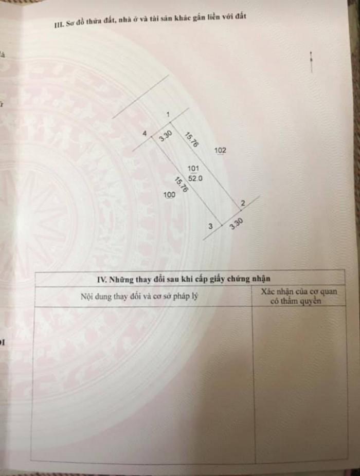 [Thung Thổ Cư] Bán nhà phân lô phố Bà Triệu, 52m, Ô tô đỗ chỉ 3,7 tỷ