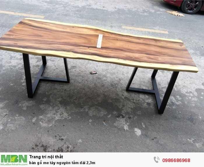 Bàn gỗ me tây nguyên tấm dài 2,3m