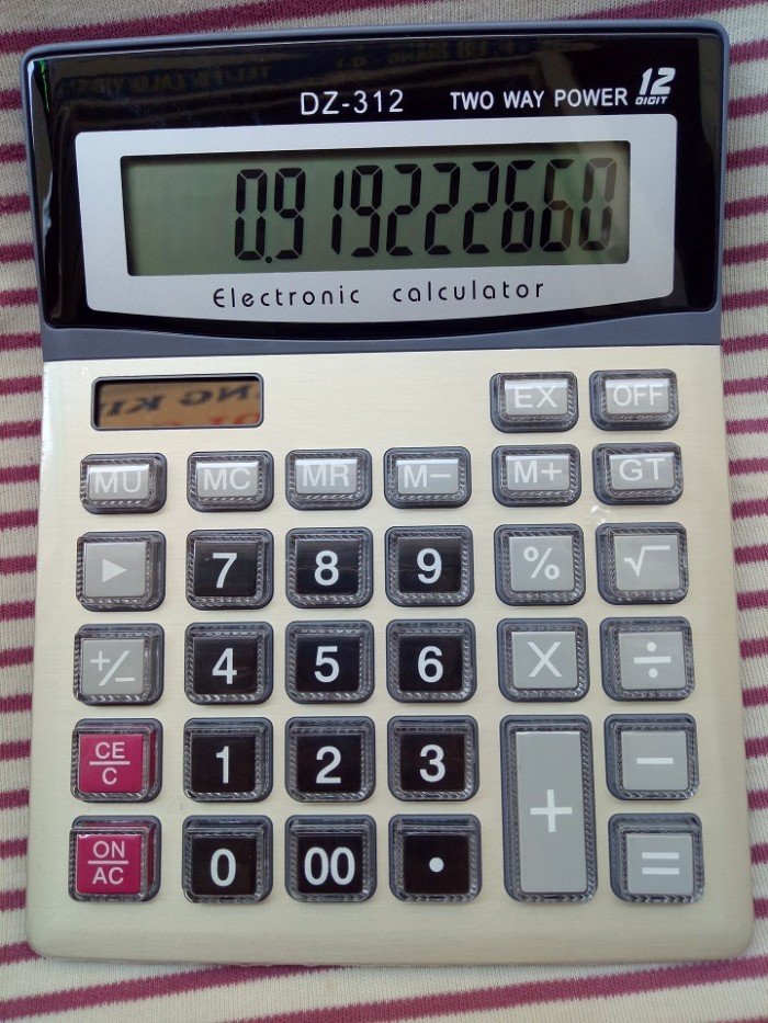Máy tính cầm tay DZ-312   Electronic Calculator DZ-3121