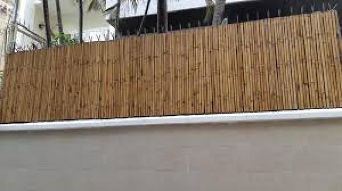 Thi công hàng rào bằng tre trúc Lên hệ Mr Năm: 0912 988 057 9
