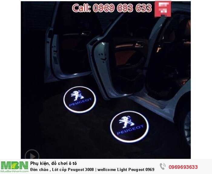 Đèn chào , Lót cốp Peugeot 3008 | wellcome Light Peugeot