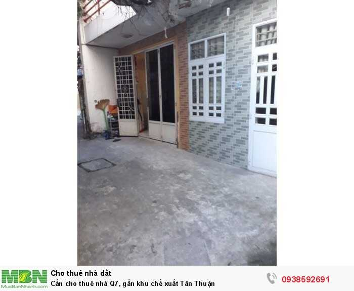 Cần cho thuê nhà Q7, gần khu chế xuất Tân Thuận