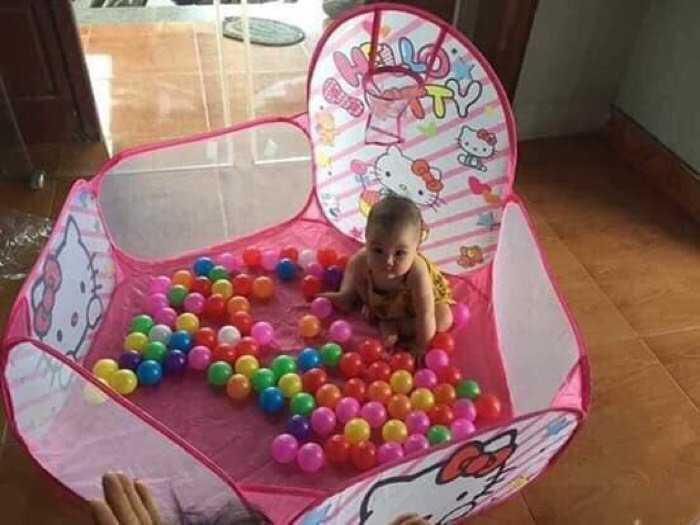 Lều Hươu bóng rổ ( Lều + 100 bóng ) cho bé thỏa sức vui chơi, an toàn thân thiện1