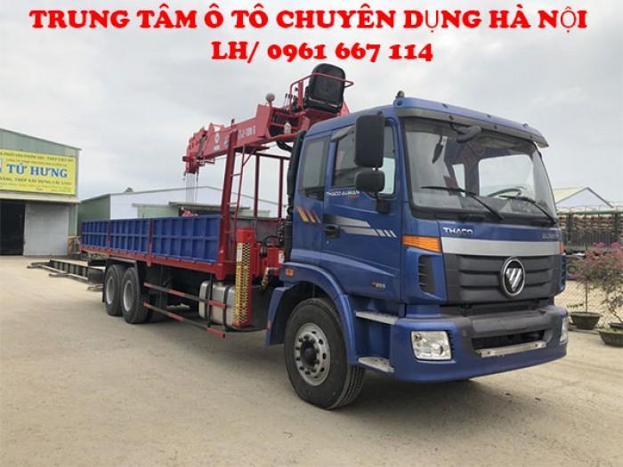 Xe tải 3 chân Thaco Auman C240/P255 ( 6x4 )gắn cẩu 7 tấn ATOM736L | Hỗ trợ khách hàng mua xe trả góp lãi xuất thấp