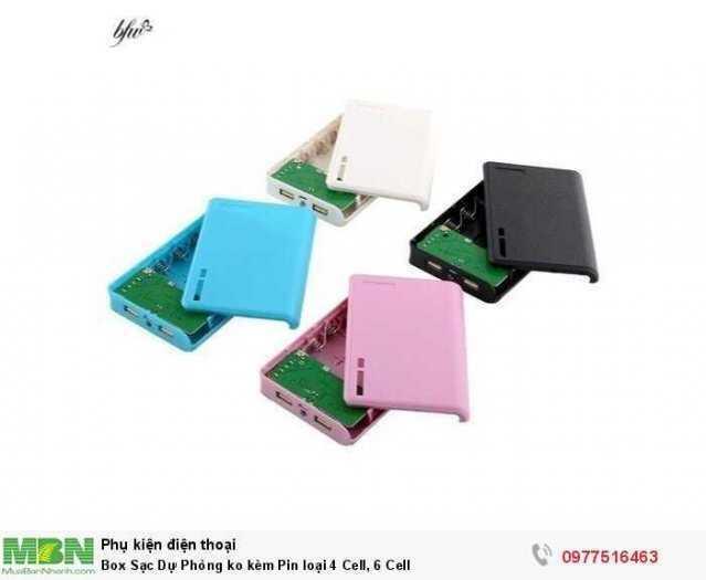 Box Sạc Dự Phòng ko kèm Pin loại 4 Cell, 6 Cell