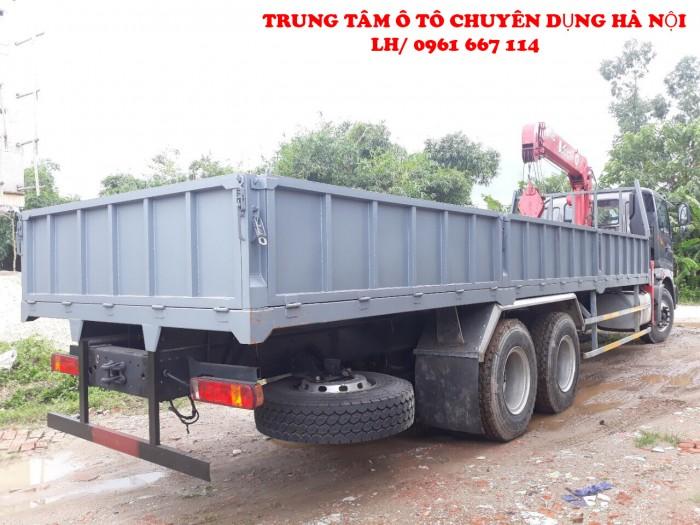 Thaco Auman C240 /P255 (6x4) gắn cẩu 3 tấn UNIC model URV374 | Hỗ trợ khách hàng mua xe trả góp