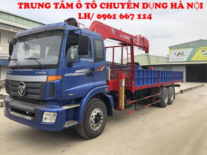 Thaco Auman C240/P255 (6x4) gắn cẩu gục 7 tấn KANGLIM model KD2056H | Hỗ trợ khách hàng mua xe trả góp lãi xuất thấp
