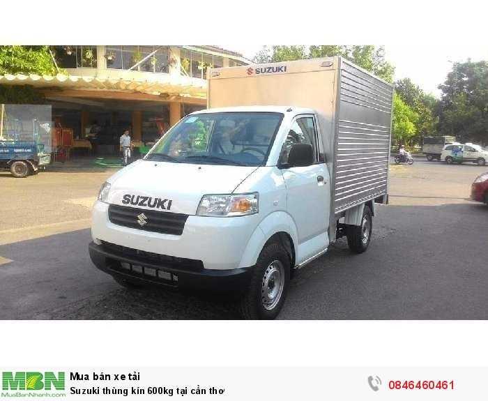 Suzuki thùng kín 600kg tại Cần Thơ