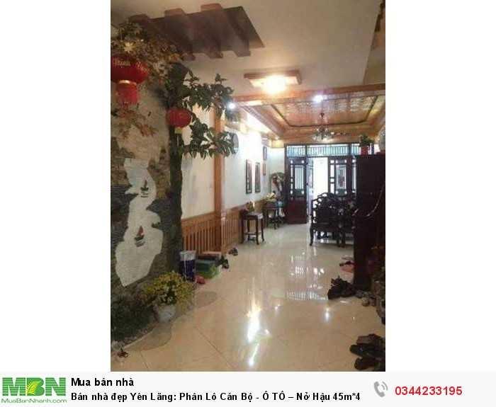 Bán nhà đẹp Yên Lãng: Phân Lô Cán Bộ - Ô TÔ – Nở Hậu 45m*4 tầng.