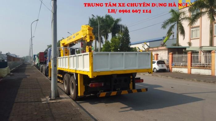 Thaco Auman C300 gắn cẩu 12 tấn SOOSAN model SCS1015LS | Hỗ trợ khách hàng mua xe trả góp