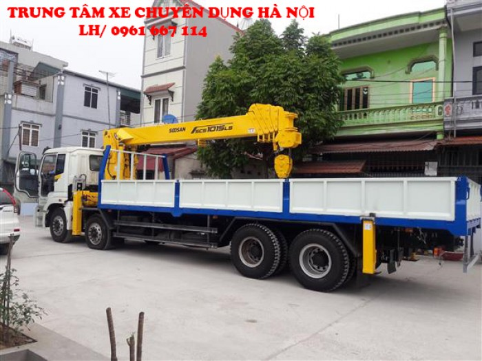 Thaco Auman C300 gắn cẩu 12 tấn SOOSAN model SCS1015LS | Hỗ trợ khách hàng mua xe trả góp 0