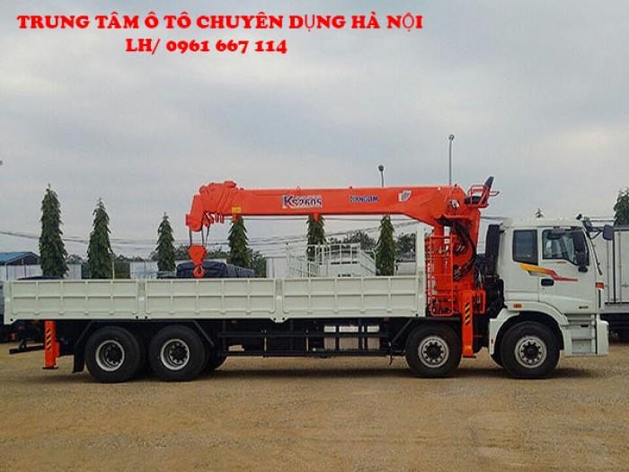 Thaco Auman C300 gắn cẩu 10 tấn KANGLIM model KS2605 | Hỗ trợ khách hàng mua xe trả góp, giá thanh lý