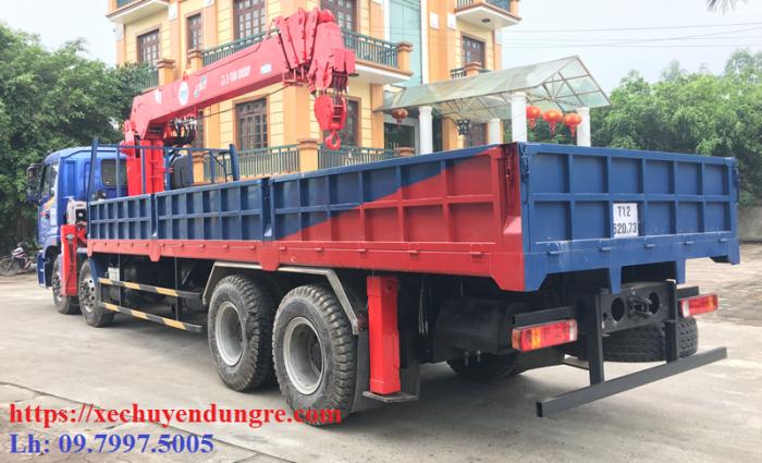 Thaco Auman C300(8x4) gắn cẩu 10 tấn ATOM1005 | Giá khuyến mãi cực hấp dẫn, Hỗ trợ mua trả góp
