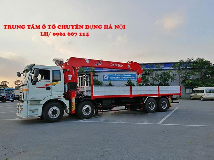 Thaco Auman C300(8x4) gắn cẩu 12 tấn ATOM1205 | Giá siêu khuyến mãi | Hỗ trợ mua xe trả góp