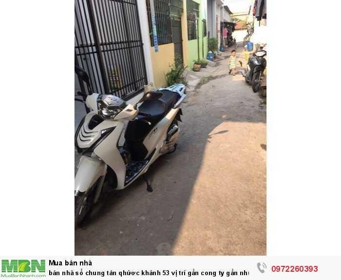 Bán nhà sổ chung Tân Phước Khánh 53 vị trí gần công ty gần trường học