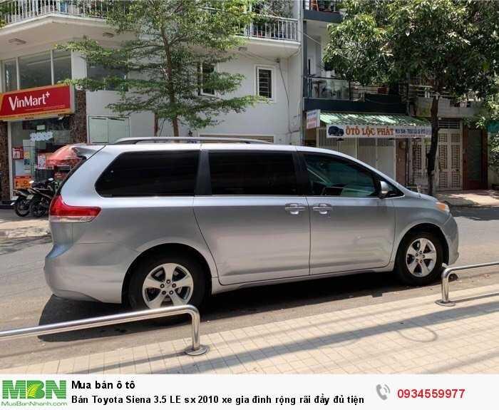 Bán Toyota Siena 3.5 LE sx 2010 xe gia đình rộng rãi đầy đủ tiện nghi