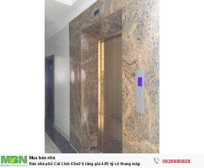Bán nhà phố Cát Linh 43m2 6 tầng giá 4.85 tỷ có thang máy