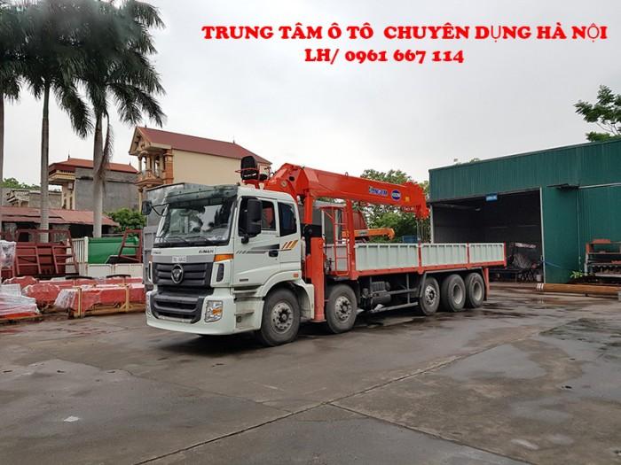 Xe tải 5 chân THACO AUMAN C34(10x4) gắn cẩu 15 tấn KANGLIM model KS5206 | Giá cạnh tranh | Hỗ trợ trả góp ngân hàng cao 2