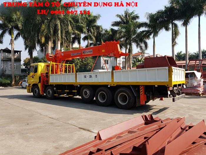 Xe tải 5 chân THACO AUMAN C34(10x4) gắn cẩu 15 tấn KANGLIM model KS5206 | Giá cạnh tranh | Hỗ trợ trả góp ngân hàng cao 0
