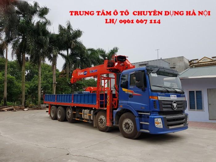 Xe tải 5 chân THACO AUMAN C34(10x4) gắn cẩu 15 tấn KANGLIM model KS5206 | Giá cạnh tranh | Hỗ trợ trả góp ngân hàng cao 1