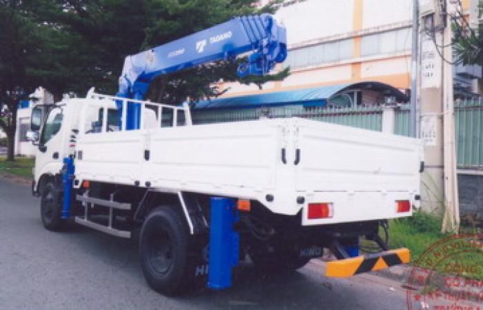 Xe tải 4 tấn HINO WU342L gắn cẩu 3 tấn TADANO mdel TM-ZE295MH   Giá rẻ nhất   Hỗ trợ mua xe trả góp lãi xuất thấp