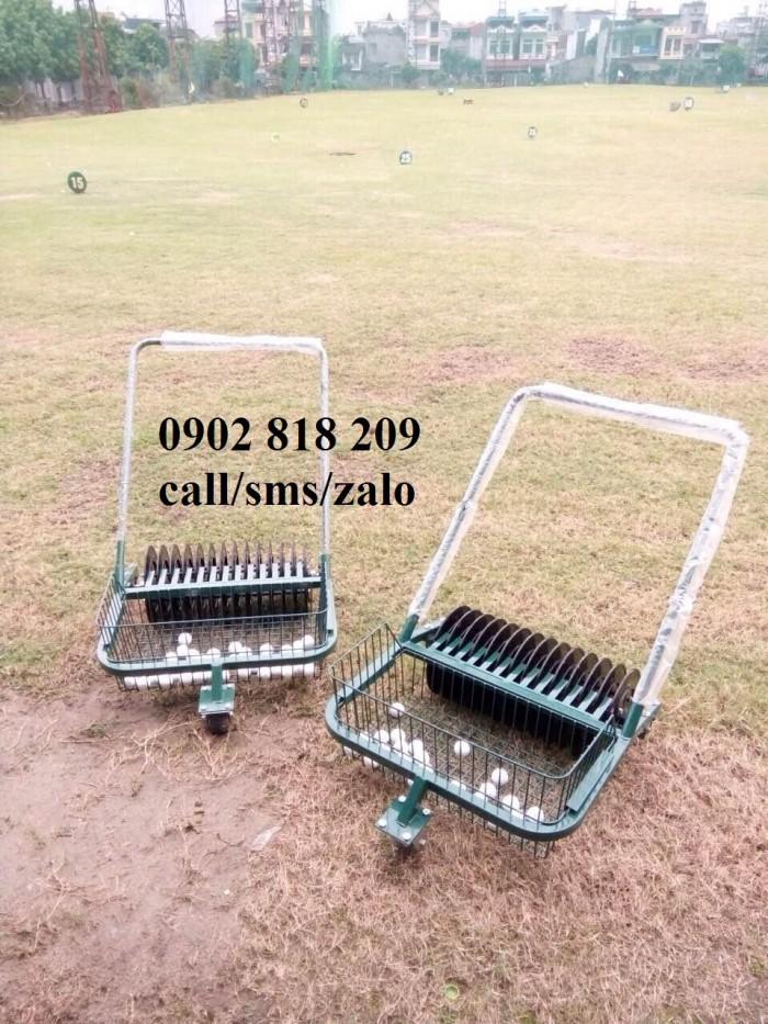 Xe nhặt bóng golf 1 rổ XD01 công suất 600 bóng1