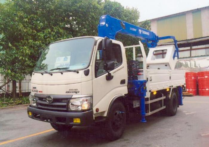 Xe tải 4 tấn HINO WU342L gắn cẩu 3 tấn TADANO model TM-ZE303MH | Giá rẻ nhất | Hỗ trợ khách hàng mua xe trả góp