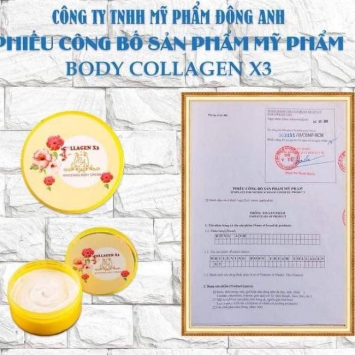 Kem Dưỡng Kích Trắng Da Body Collagen X3