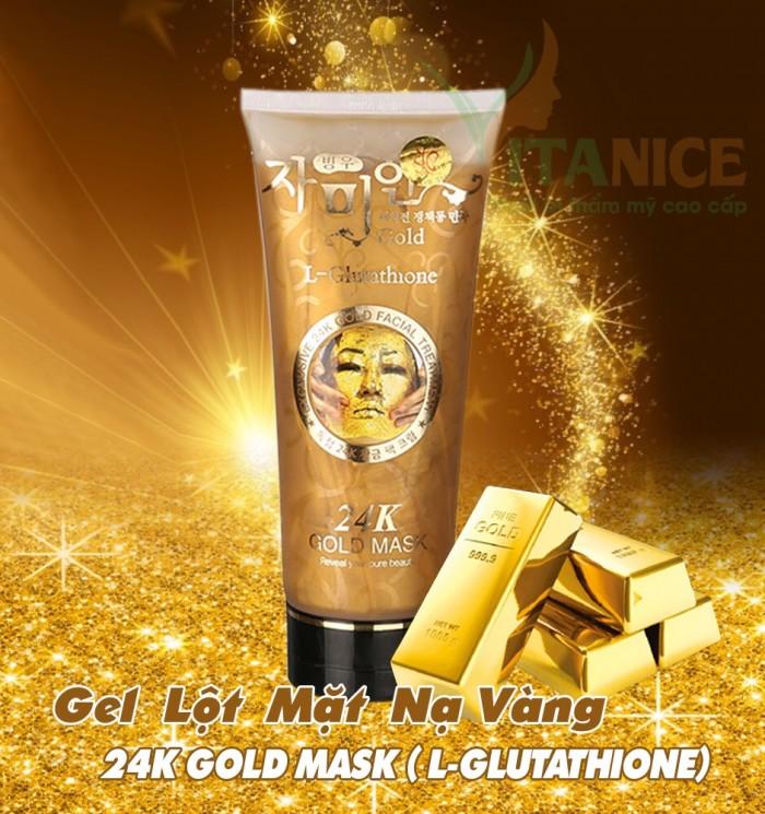Mặt Nạ Vàng Colagen Gold 24k - Gel Lột Kích Trắng Da Hút Mụn Vàng 24k3